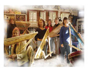 triangle weaving workshop group